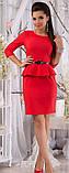 Сукня міні з баскою рукав від виробника 42 44 46 48 50 52 Р, фото 2