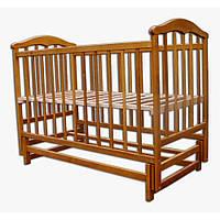 Детская кроватка Laska-M Чайка маятник (нат. ольха) без ящика 13319