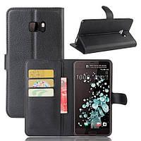 Чехол-книжка Litchie Wallet для HTC U Ultra Черный