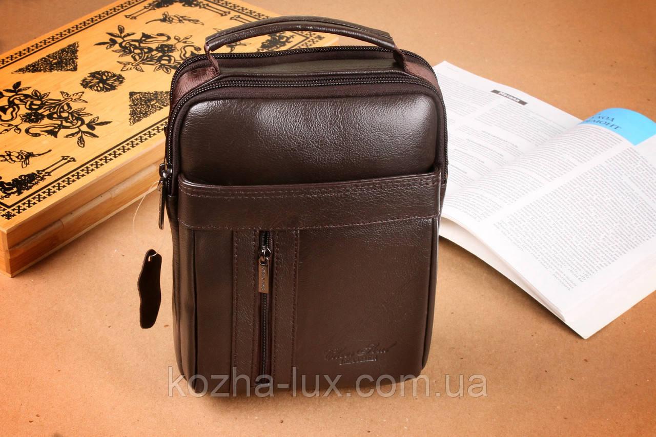 aa10fdcbc73f Мужская коричневая сумка из натуральной кожи, Италия - магазин