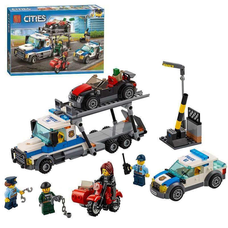 """Конструктор Bela 10658 """"Ограбления трейлера автовоза"""" (аналог Lego City 60143), 427 дет"""