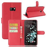 Чехол-книжка Litchie Wallet для HTC U Ultra Красный