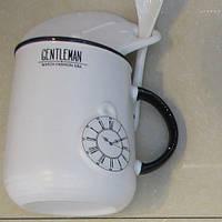 """Чашка с крышкой и ложкой """"Gentleman"""" R84860 (72шт)"""
