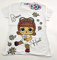 Детская футболка 2 и 3 года Турция для девочки майка детские футболки майки на девочку