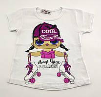 Детская футболка 1 2 3 и 4 года Турция для девочки майка детские футболки майки на девочку