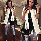 Пиджак женский кардиган модный и стильный мята пудра белый... 42 44 46 48 50 Р, фото 2