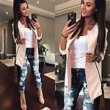 Пиджак женский кардиган модный и стильный мята пудра белый... 42 44 46 48 50 Р, фото 4