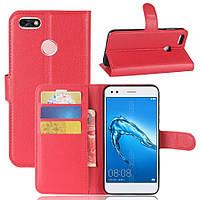 Чехол-книжка Litchie Wallet для Huawei P9 Lite Mini Красный