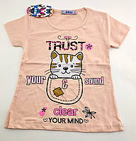 Детская футболка 1 2 3 года Турция для девочки майка детские футболки майки на девочку