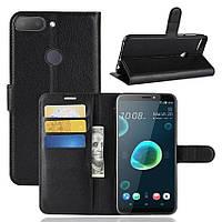 Чехол-книжка Litchie Wallet для HTC Desire 12+ Черный
