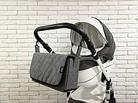 Сумка-пеленатор на коляску Z&D Лен Серый, фото 1