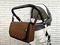 Сумка-пеленатор на коляску Z&D Коричневый