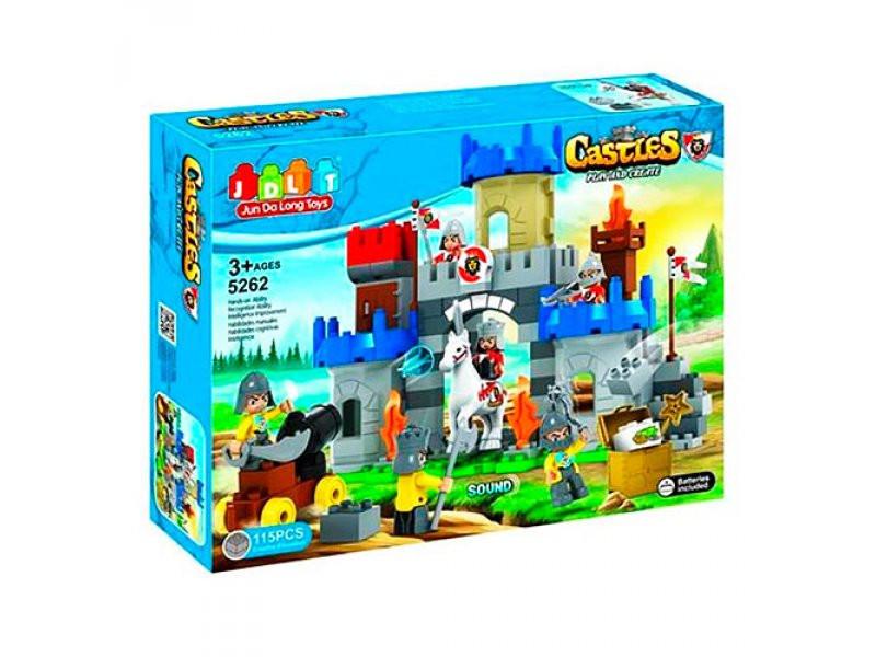 """Конструктор JDLT 5262 (аналог Lego Duplo) """"Рыцари и замок"""", 115 дет"""