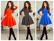 Платье женское красивое с рукавом модное и стильное