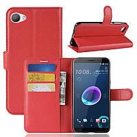 Чехол-книжка Litchie Wallet для HTC Desire 12 Красный