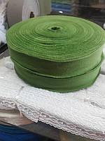 Трикотажная бейка 3,5 см зелёный