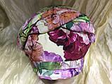 Летняя сиренево-салатовая бандана-шапка-косынка-чалма, фото 8