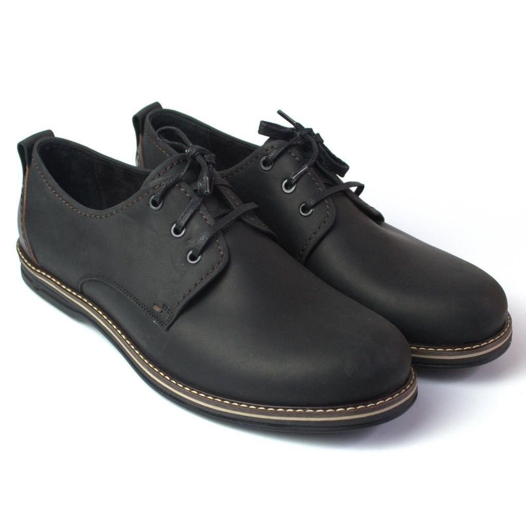 Напівчеревики шкіряні чорні чоловіче взуття великих розмірів Rosso Avangard Winterprince Polyderby BS
