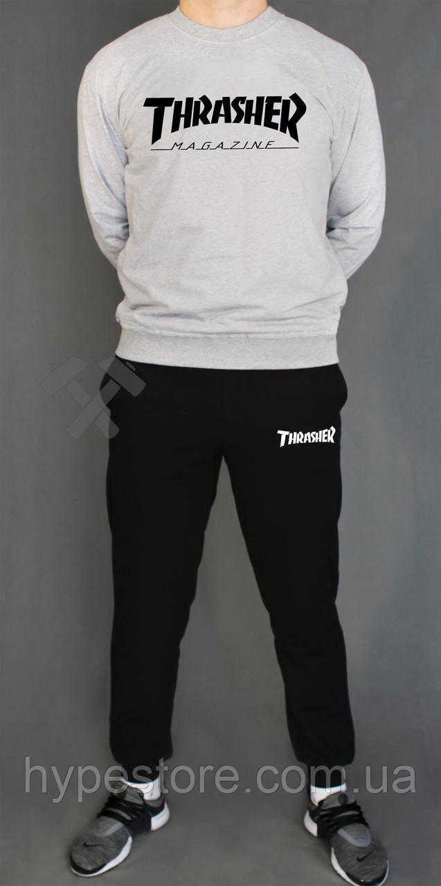 Мужской весенний комбинированный спортивный костюм, чоловічий костюм Thrasher, Реплика