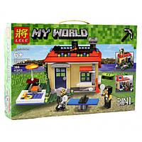 """Конструктор Lele 33076 """"Отдых на природе 3 в 1"""" (аналог Lego Майнкрафт, Minecraft ), 366 дет"""