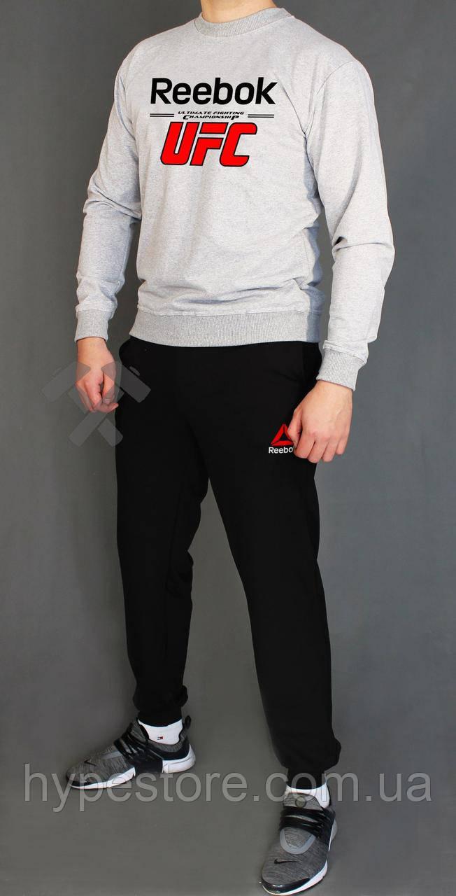 Мужской весенний комбинированный спортивный костюм, чоловічий костюм Reebok UFC, Реплика