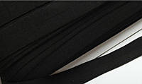 Трикотажная бейка 3,5 см чёрная