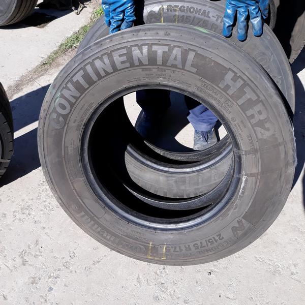 Шины б.у. 215.75.r17.5 Continental HTR2 Континенталь. Резина бу для грузовиков и автобусов