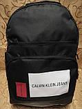 Рюкзак calvin klein jeans с кожаным дном Унисекс Спортивный городской стильный только рюкзаки оптом, фото 2