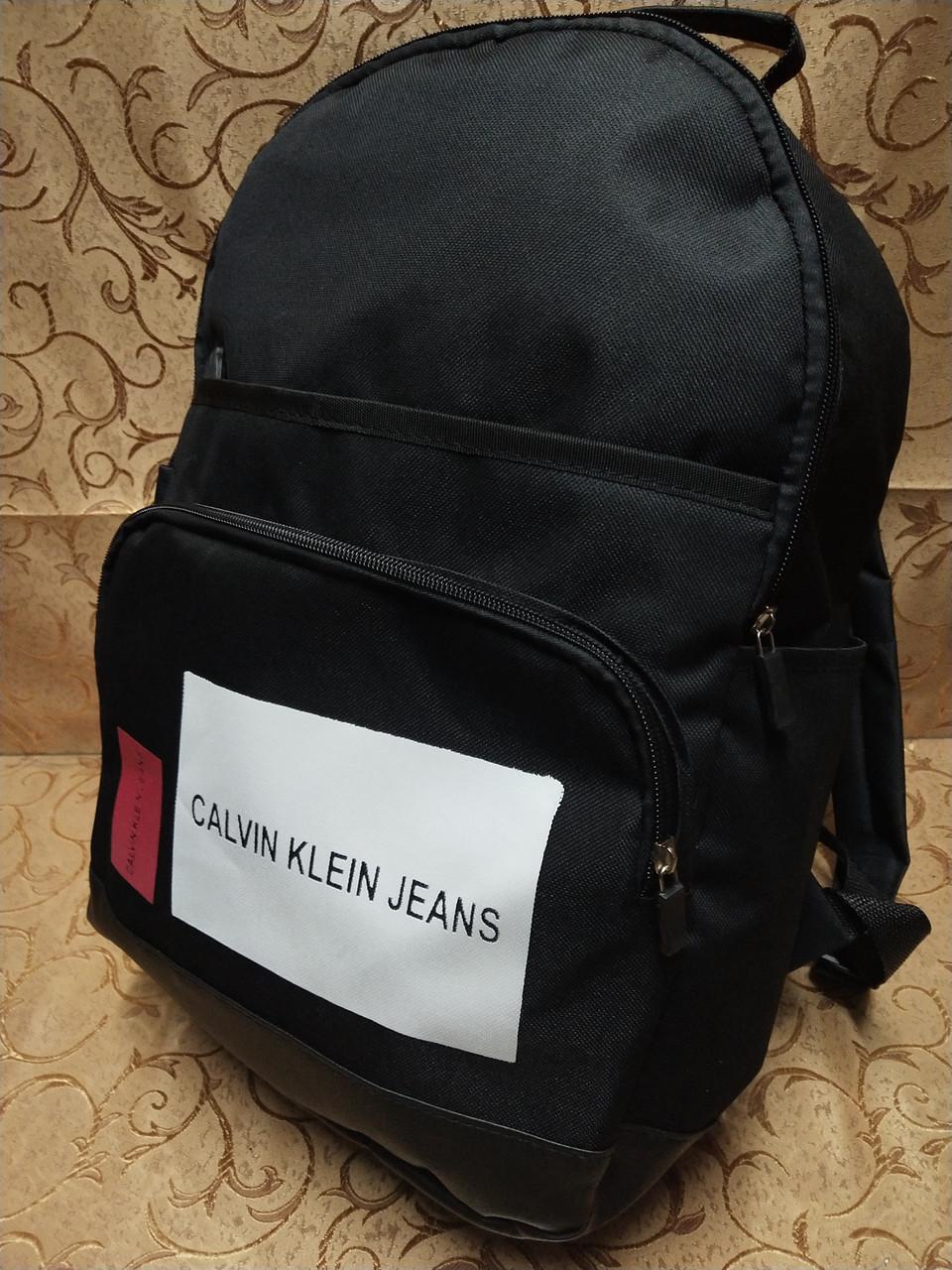 Рюкзак calvin klein jeans с кожаным дном Унисекс Спортивный городской стильный только рюкзаки оптом
