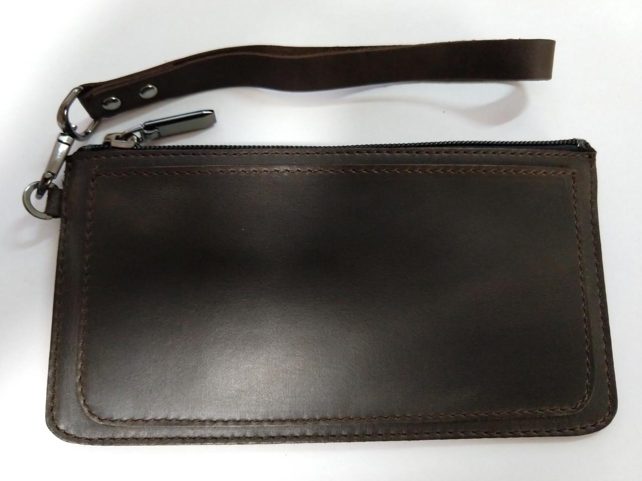 Чехол-сумочка на молнии 5-6 дюймов Grand Premium (Кожа)