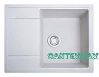 Плита гранітна мийка Solid Оптима білий 65x51, фото 1