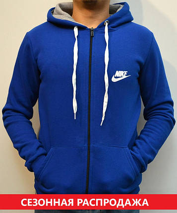 5bc4a812 Мужская толстовка Nike (Найк) / Утепленная спортивная кофта с капюшоном,  Трикотаж трехника -
