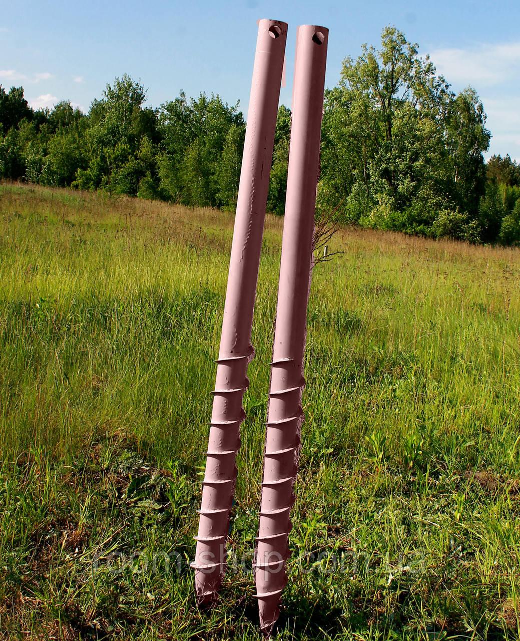 Многовитковая винтовая свая (геошуруп) диаметром 76 мм длиною 4.5 метра