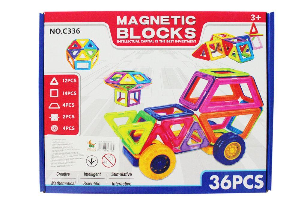 """Магнитный конструктор """"Magnetic Blocks"""", со светом, 52 детали"""