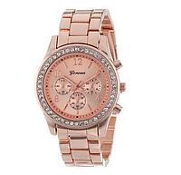 Наручные часы Женева цвет розовое золото код 129