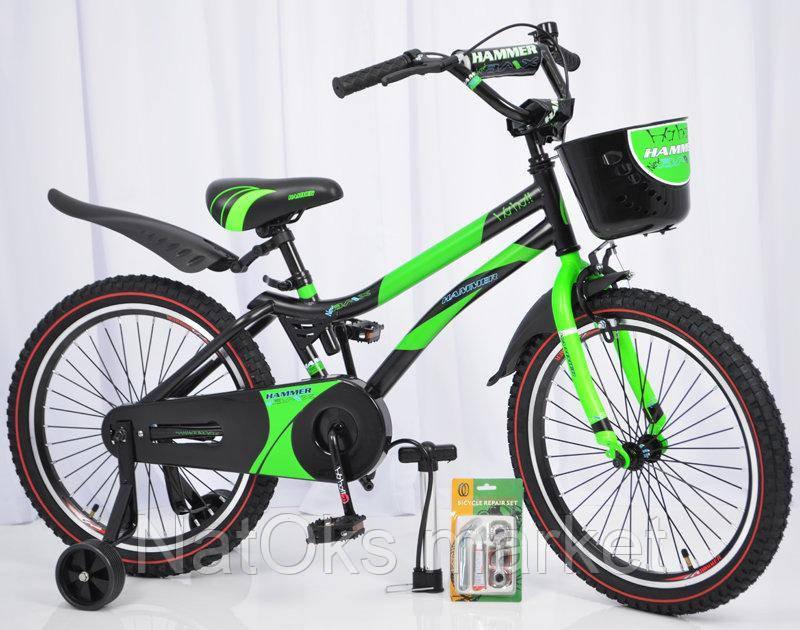 """Велосипед детский HAMMER S500 20"""" дюймов (Зеленый)"""