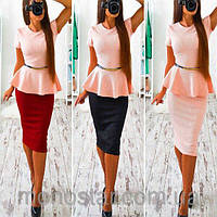 Платье плаття купить баска 42 44 46 48 50 Р