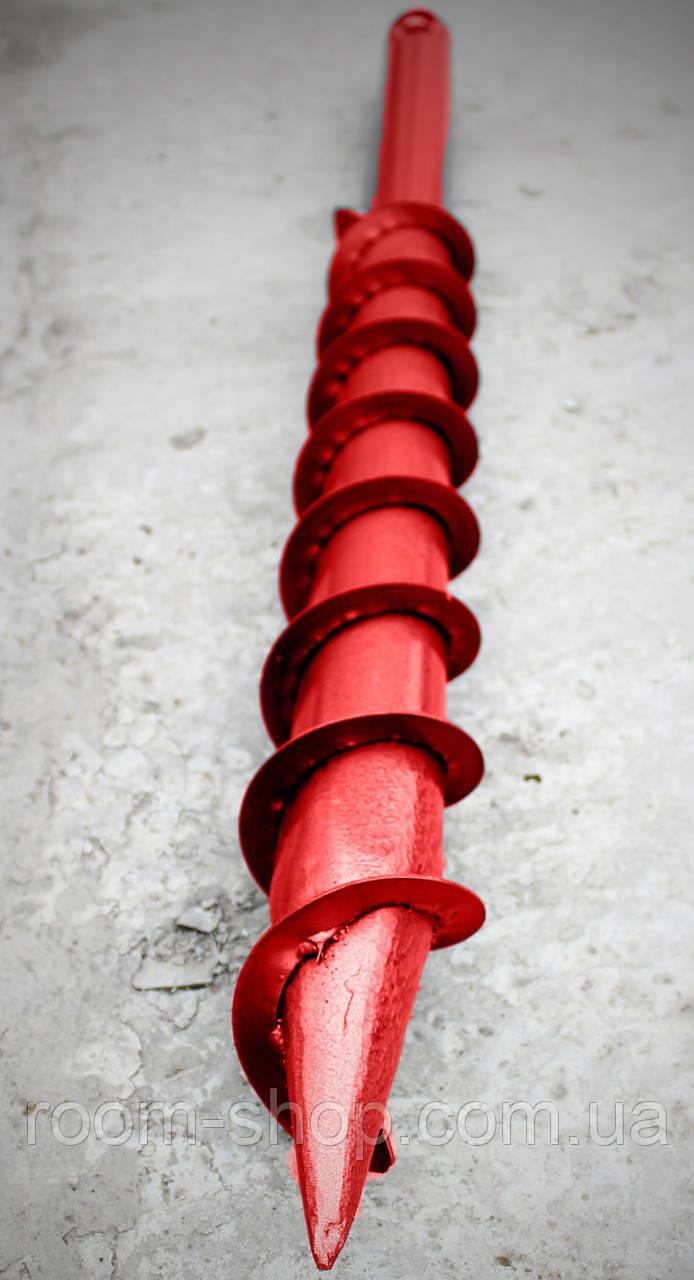 Геошуруп (винтовая свая, БЗС) диаметром 76 мм длиною 5 метров