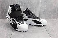 Кроссовки А 321-4 (Nike AirMax) (весна/осень, мужские, искусственная кожа, бело-черные)