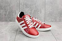 Кеды CrosSAV 112 (Adidas Super Star) (весна/осень, подростковые, натуральная кожа, красный)