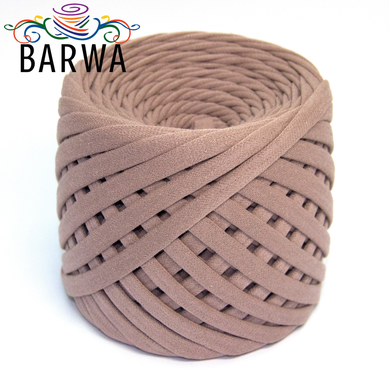 Трикотажная пряжа BARWA standart 7-9 мм. 50 м. цвет Визон