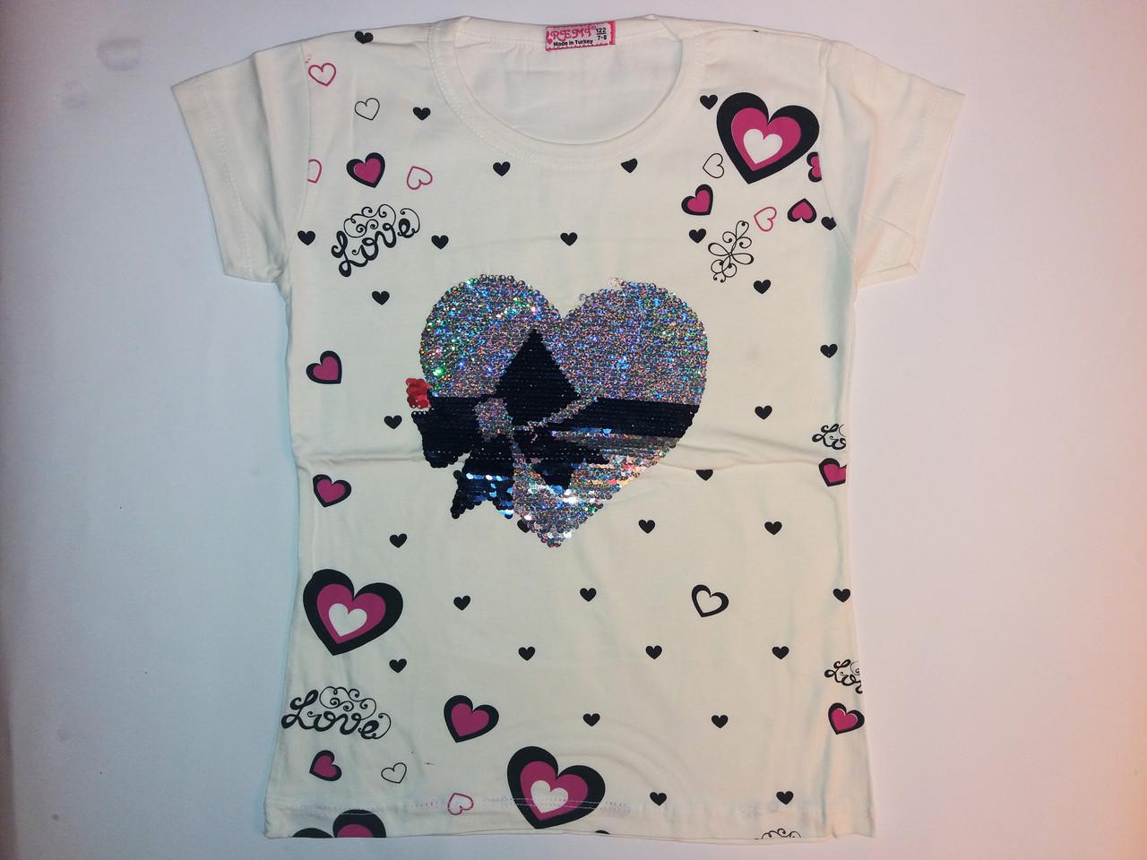 Детская футболка на девочку (3-8 лет)
