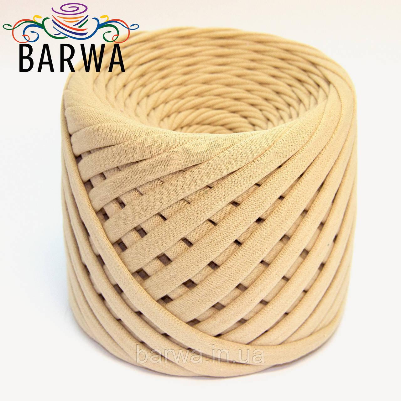 Трикотажная пряжа BARWA standart 7-9 мм. 50 м, цвет Имбирь
