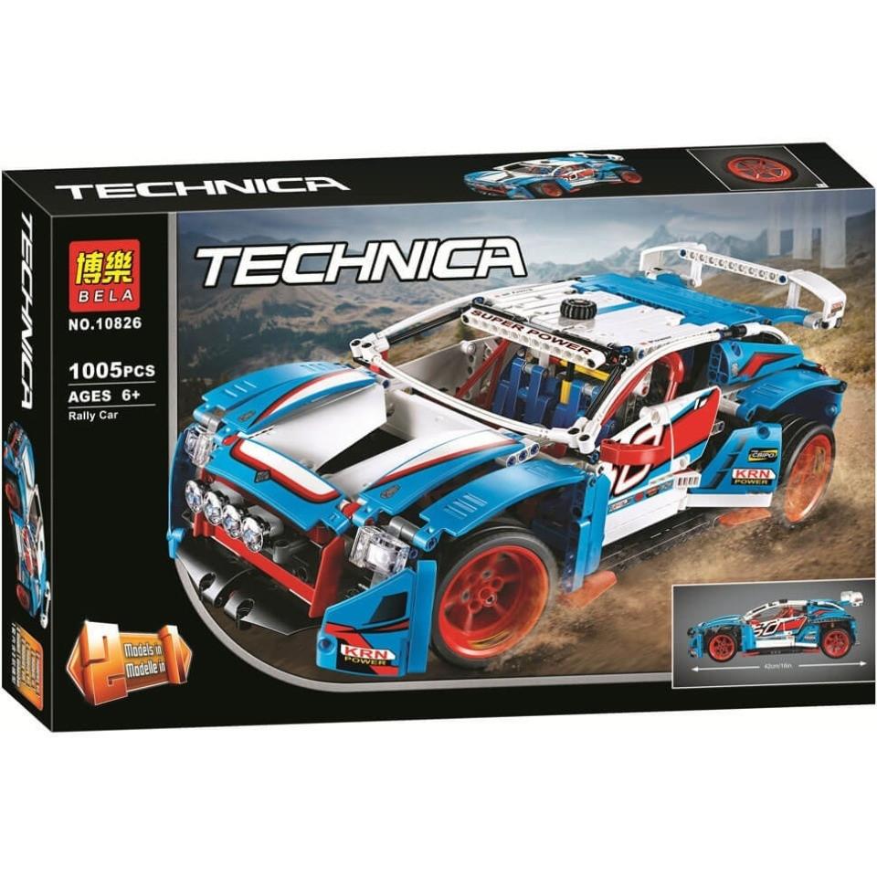"""Конструктор Bela 10826 """"Гоночная машина 2в1"""" (аналог Lego Technic 42077), 1005 дет"""