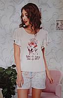 Пижама с шортами и футболкой