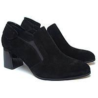 Туфли замшевые черные на каблуке женская обувь Eterno Black Vel by Rosso Avangard , фото 1