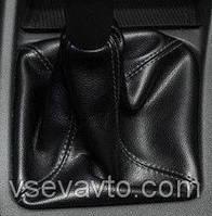 Чехол КПП с рамкой 2170 Приора Кожа черная BK Avtoban