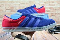 Кеды G 9325 (Adidas Special Hamburg) (весна/осень, мужские, замша, синий)