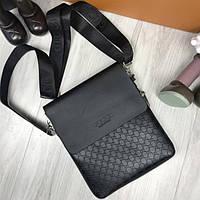 101589dce5ec Качественная женская сумка-планшет Gucci черная сумочка планшетка унисекс  через плечо эко-кожа Гуччи