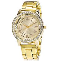 Часы наручные женские золотистого цвета код 267